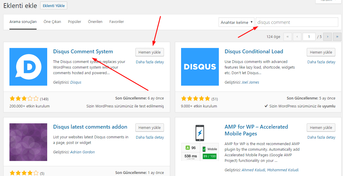 Wordpress Disqus Eklentisi Kurulumu