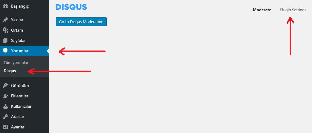 Wordpress Yorumları Disqus Yorum Sistemine Aktarma